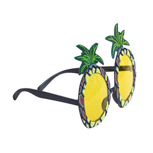 PiniceCore Ananas Brillen Hawaii Obst Sonnenbrille Hawaii-Party Obst Brille Tanzen Supplies Hen Night Stag Party Abendkleid