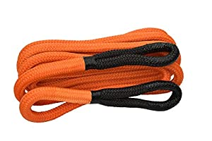 "1""×30ft Kinetic Energy Rope Truck SUV Tow Rope,Recovery Rope 30000lbs,Towing Rope (Orange)"