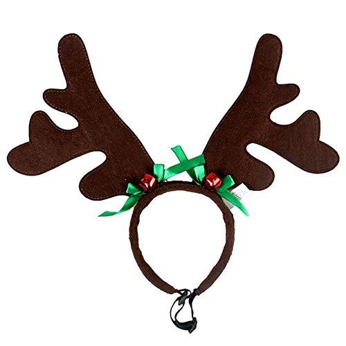 Elibeauty Diadema de cuernos de mascota, accesorios para el
