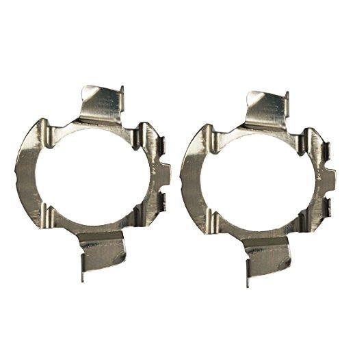 KOOMTOOM 2 pièces métal LED H7 ampoules adaptateurs support de base de lampe clip de support pour quasquai / Polo 6r / Polo 9r / Jetta Sport (MK6) / Opel Astra J (K05)