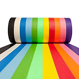 #1 Craft Multi Colored Masking Tape [11 Pack Variety Set - Assorted Color Coded Rolls] – Fun DIY Arts n Supplies Kit for Little Kids, Toddlers & Adults Ages 2, 3, 4, 5, 6, 8, 9, 10 12 Years Old