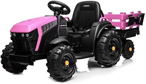 VALUE BOX 12V Ride on Tractor with Trailer Battery Powered Electric Agricultural Vehicle Toy product image