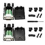 CERRXIAN - Adattatore per interfaccia seriale RS-232, DB9 maschio e DBP femmina (1 coppia) White screw plug