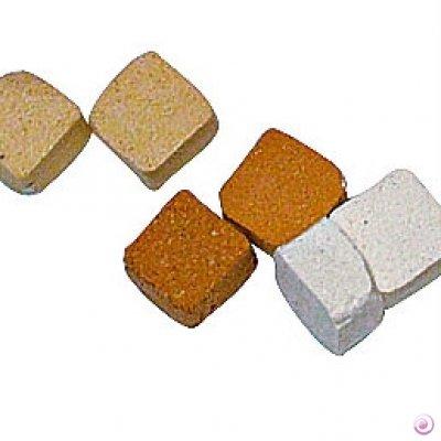 Mosaix 22930285x 5x 3mm 10G 100Keramik unglasiert Mosaik Micro Fliesen, terracotta Licht