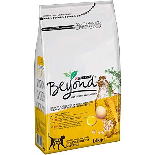 PURINA BEYOND Katzentrockenfutter weizenfrei, mit Huhn und Vollkorngerste, 6er Pack (6 x 1,4kg)