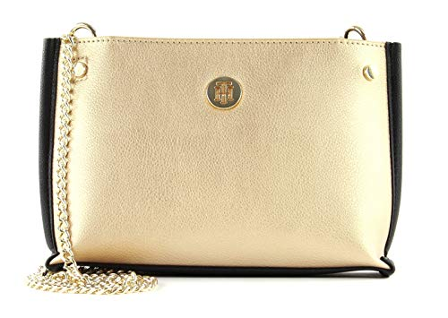 Tommy Hilfiger dames Tommy Chain Crossover schoudertas, 7,4 x 15 x 24 cm