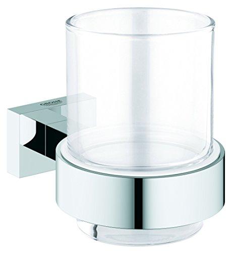 GROHE Essentials Cube | Badaccessoires - Glas mit Halter | 40755001