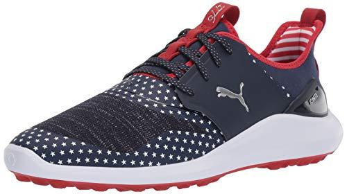 Puma Golf Men's Ignite NXT LACE Patriot Pack Golf Shoe, Peacoat-Puma White-High Risk Red, 11.5 Medium US