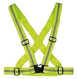 Chaleco reflectante, chaleco de seguridad elástico ajustable para una alta...