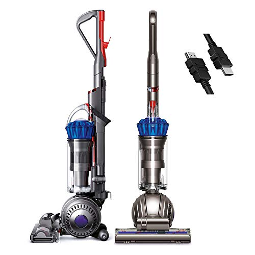 (RENEWED) Flagship Dyson Light Ball Multi Floor Midsize Upright Vacuum, Self-Adjusting, Cleaner Head Ball Technology Whole-Machine HEPA Filtration Hygienic Bin Emptying + iCarp HDMI Cable