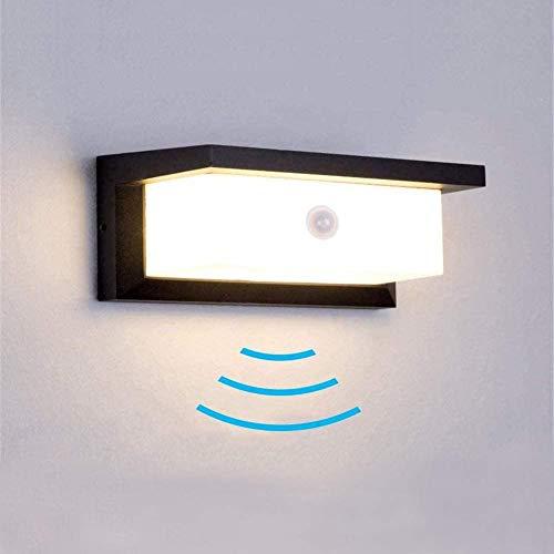 INHDBOX 18W LED Aussenleuchten Bewegungsmelder Außenlampe IP65 Wasserdicht LED Wandleuchte Innen/Aussen Wandlampe Warmweiß 3000K für Garten Schlafzimmer Treppenhaus Flur