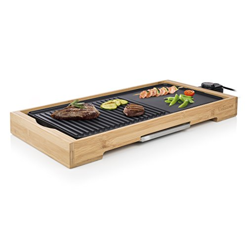 Plancha et grill de table - 2000 Watts - Surface de cuisson...