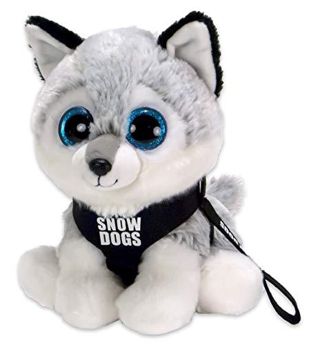 Kuscheltier Husky Snow Dog - Plüschtier mit strahlenden glubschi Augen - 20cm hoch