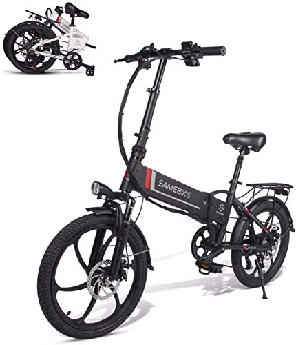 BIKE Electric Bike ,Folding E-Bike - Electric Moped Bicycle with 48V 350W Motor Remote Control White,Black