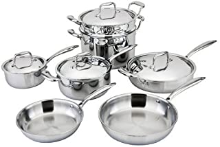 All-Ply 11pc 18/10 Copper Core Cookware Set