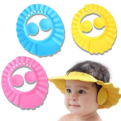 inherited Badekappe Baby,weicher Kappen Baby Einstellbar Duschhaube Baby sicherer Shampoo Cap Weich Verstellbare Wash Badekappe mit Ohrenschutz für Augenschutz Dusche...