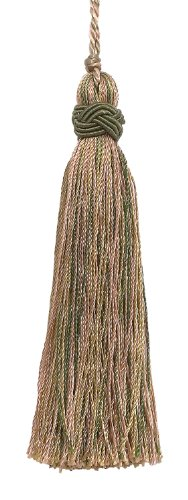 Set of 10 Decorative Olive Green, Champagne 10cm Tassel, Imperial II Collection Style# ITS Color: SAGEGRASS - 4567