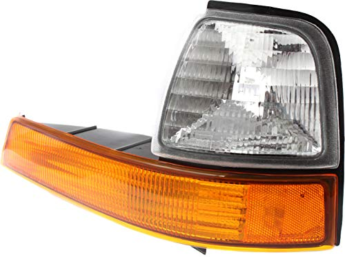 Evan-Fischer Corner Light Compatible with 1998-2000 Ford Ranger Plastic Clear &...