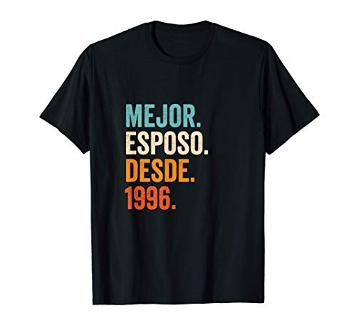 Hombre Mejor Esposo desde 1996   25 aniversario de boda 25 años Camiseta