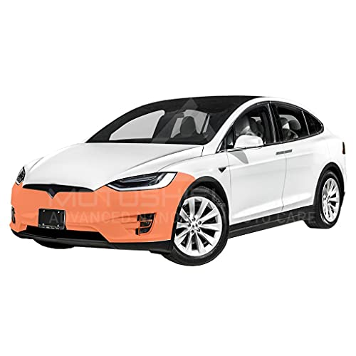 MotoShield Pro Precut Car Self-Healing Paint Protection Film, Clear Bra Paint Protection Film for DIY or Professional Use - for Tesla Model X (Front Bumper Only)