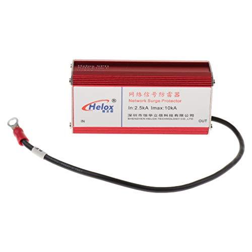 Shiwaki Schneller RJ 45 Adapter Ethernet Netzwerk LAN Gerät Überspannungsschutz Ableiter Rot