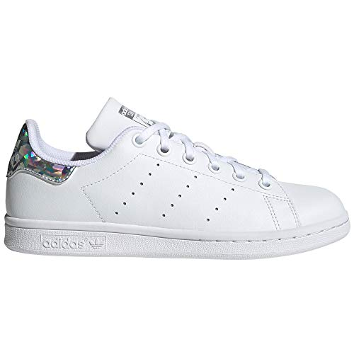 adidas Stan Smith Weiß Schuhe Damen. Sneaker. Low-Top, Trainer, Tennis.g (FTWR Blanc - Metal Irise Pr, Fraction_38_and_2_Thirds)