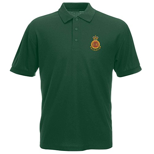 Pineapple Joes Pineapple Joes Royal Military Academy Sandhurst Bestickt Polo Gr. XL, Grün - Bottle Green