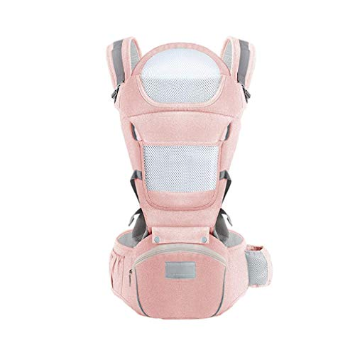 WYYAF Babydraagzak, babydraagzak, Multifunctionele Baby Carrier Hip seat Baby Rugzak 0-36 Maanden Katoen Opslag Vier Seizoenen Universeel (Kleur : C)