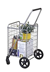 COMPACT & LIGHTWEIGHT - No assembly required, this foldable shopping cart is the perfect size for any household. Lightweight yet sturdy, the Wellmax shopping cart can fit oodles of items, up to 66 lbs. Better yet, this cart is engineered to fold flat...