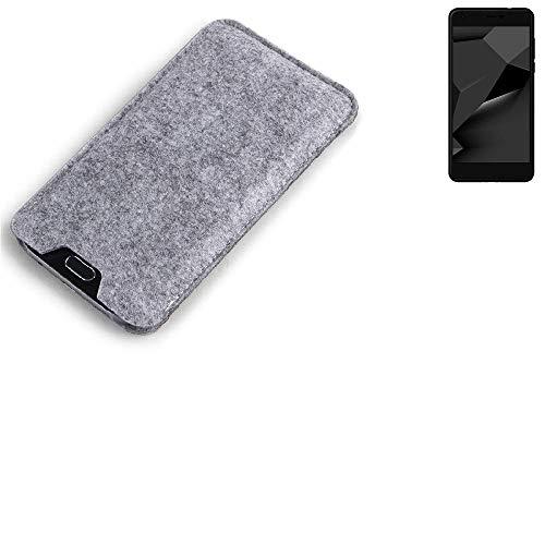 K-S-Trade® Filz Schutz Hülle Für Blaupunkt SL Plus 02 Schutzhülle Filztasche Filz Tasche Case Sleeve Handyhülle Filzhülle Grau