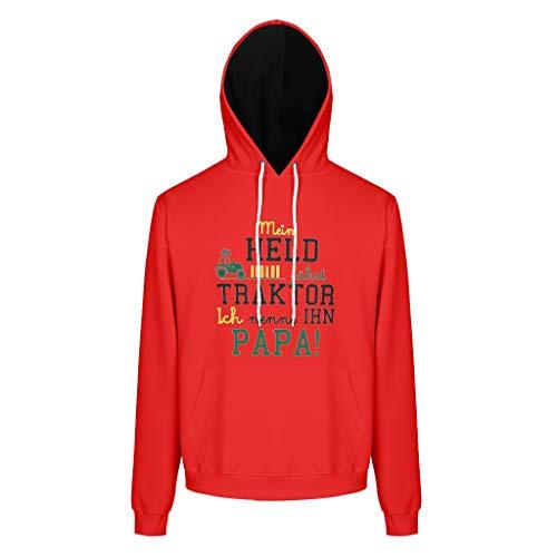 RNGIAN Mens Unisex Sweatshirts Hoodies Mein Held fährt Tractor Slim Fit Sweat Hoodie Für Jugenden White 4XL