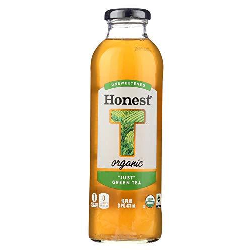 Honest Just Unsweetened Green Tea, 16 Ounce -- 12 per case.