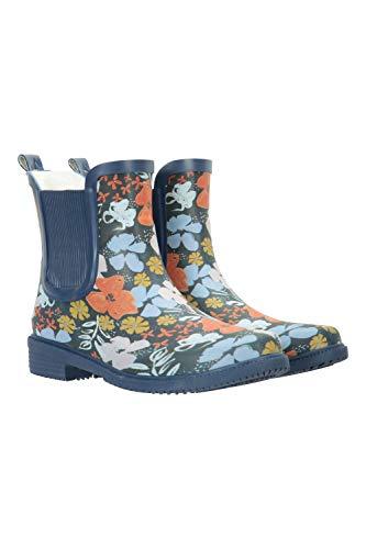 Mountain Warehouse Botas de Agua de caña Corta para Mujer - Calzado Impermeable, con Forro de algodón - Ideal para Lluvia, Senderismo, Trekking, Aire Libre y Deporte Coral Talla Zapatos Mujer 39 EU