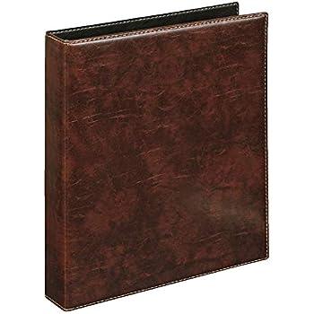 Veloflex 5143760 Ringbuch A4 Exquisit, Ordner, hochwertige Weichfolie, Lederoptik, 4-Ring-Mechanik, 25mm, braun