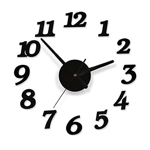 Reloj de Pared 3D Reloj grande etiqueta de la pared de acrílico silencioso Digital Gran bricolaje autoadhesivasFabricamos reloj de pared de diseño moderno for la decoración de la habitación de
