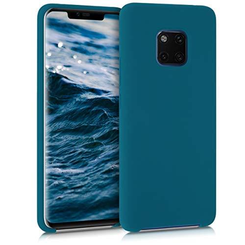 kwmobile Cover Compatibile con Huawei Mate 20 PRO - Custodia in Silicone TPU - Back Case Protezione Cellulare Petrolio Matt