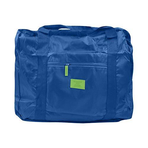 Bolsa de Viaje de Moda de Gran Capacidad para Hombre Mujer Bolsa de Fin de Semana Bolsa de Gran Capacidad Viaje Llevar Bolsas de Equipaje Durante la Noche # T5P-Azul Oscuro