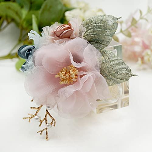 SHUJIA Paño Arte Flor Broche Traje Clásico para Mujeres Bufandas Tela Cardigan Sandigan Pin Sweet Fashion Femen