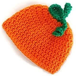 Crochet Baby Pumpkin Hat, Halloween Baby Beanie