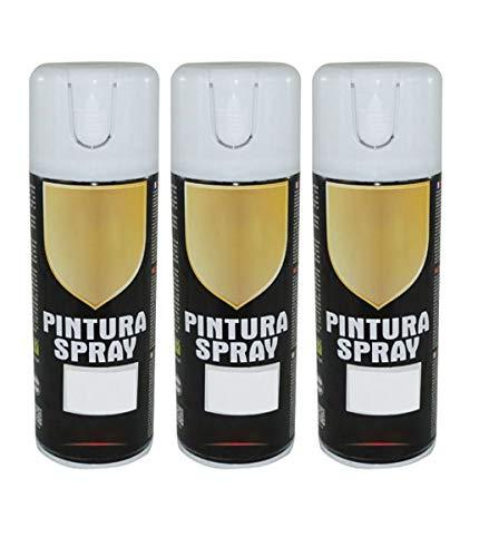 Pintura Spray Blanco Mate 400 Ml - Pack de 3 Unidades