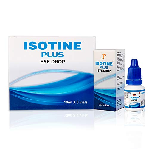 Isotine Plus Eye Drop 100% Ayurvedic with no side effects 1 Box (10ml X 6 vials) - AYUSH Ministry Certified