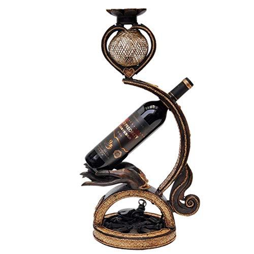 WLD Wijnrek, wijnglasrek, houtsnijwerk, tafellamp, wijnrek, handwerk, wijnrek, vrijstaand, voor thuis, woonkamer, decoratie, display, wijnrekken, vrijstaand bruin