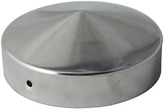 Pfostenkappe aus Edelstahl Pfostenabdeckung für Rundpfosten Ø 90mm rostfrei