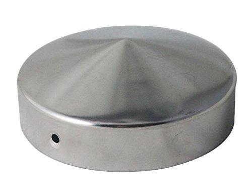 Pfostenkappe rund Edelstahl Pyramide für Rundpfosten 10 cm, inkl. VA-Schrauben