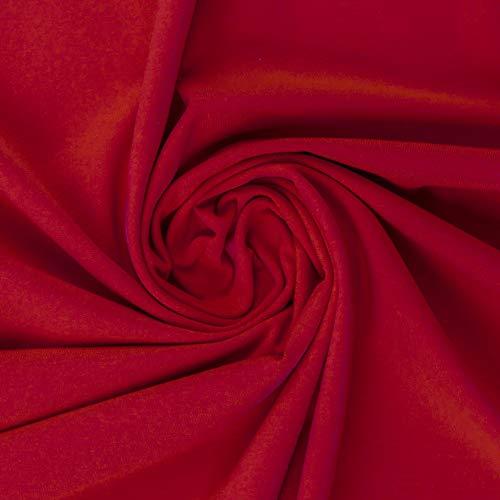 Swafing - Polo jersey per fai da te, tessuto al metro in tinta unita, Colore: rosso, 50 x 155 cm