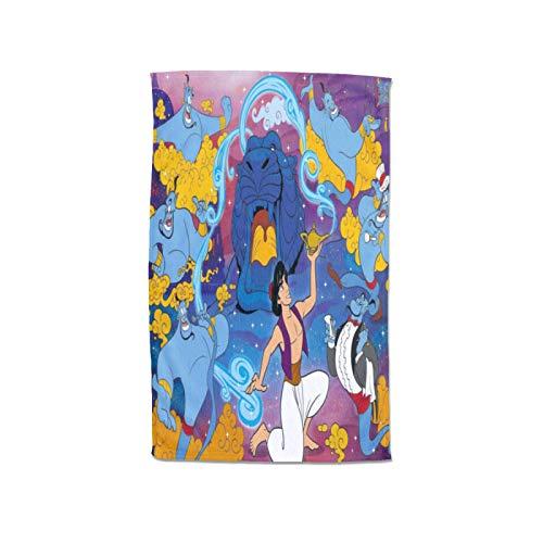 Large Puzzle Disney Aladdin Moments - Toalla (100% algodón, 80 x 130 cm), diseño de Aladdin Moments
