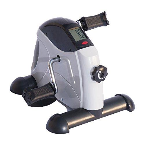 HOMCOM Fitnessbike Hometrainer Indoorsportbicycle Exercise Bike Fitness LED Display 5 Modelle (grau/Mini Bike)