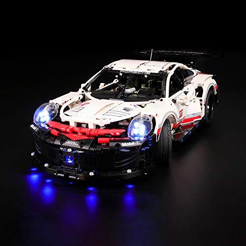LIGHTAILING Licht-Set Für (Technic Porsche 911 RSR) Modell - LED Licht-Set Kompatibel Mit Lego 42096(Modell Nicht Enthalten)