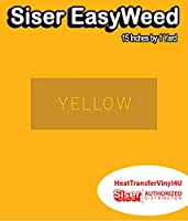 Siser EasyWeed アイロン接着 熱転写ビニール - 15インチ 1 Yard イエロー HTV4USEW15x1YD