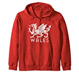 Rugby Welsh Tshirt Red Dragon Flag of Wales Sweat à Capuche